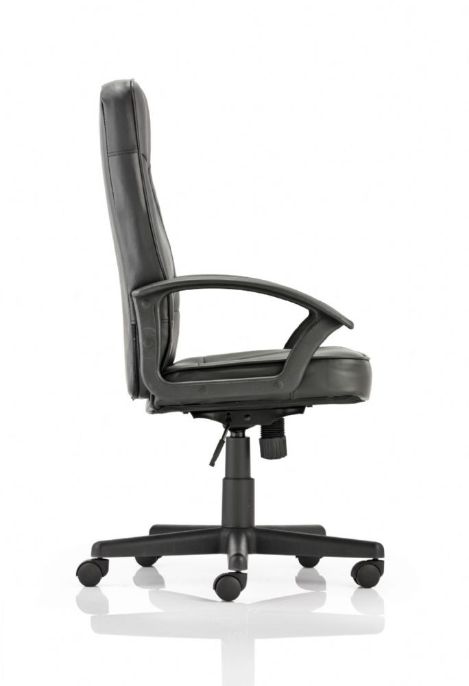 Blitz Budget Executive Chair Fixed Arms Office Outstanding Value Black Bonded Leather